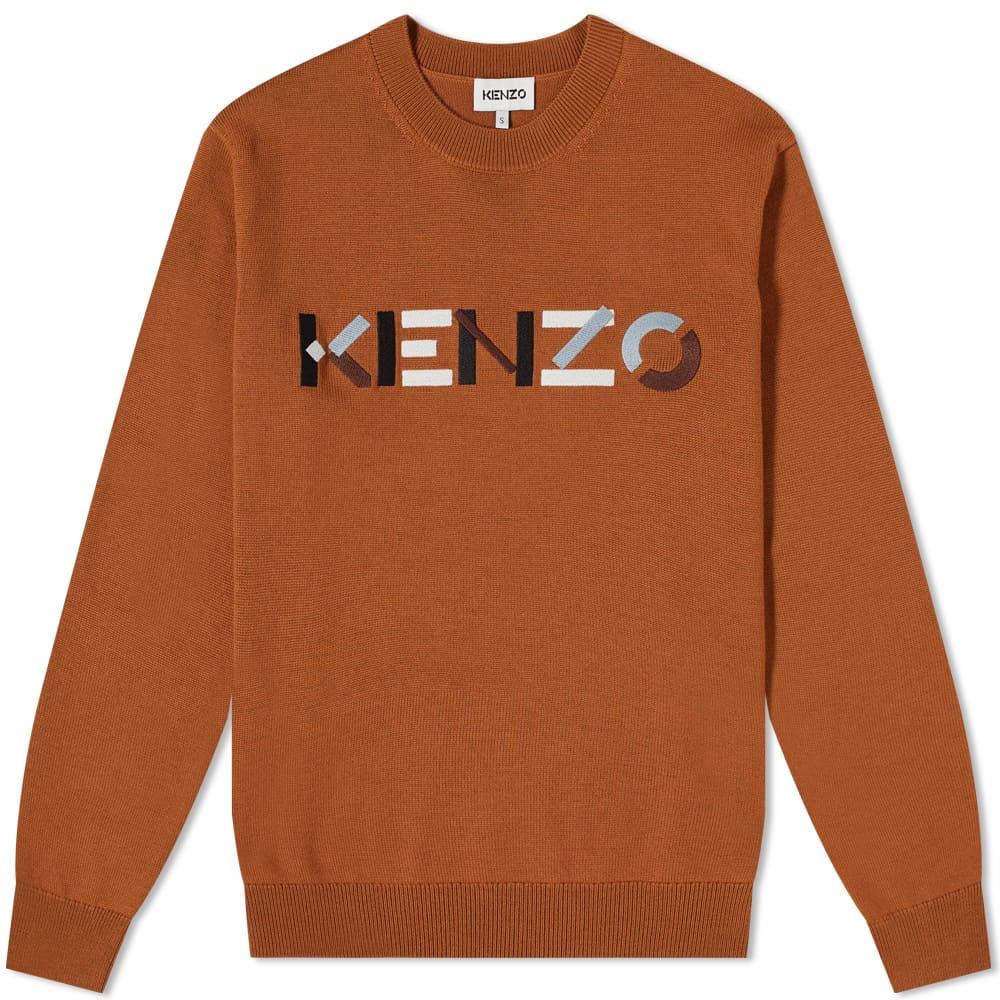 Kenzo Embroidered Logo Crew Knit - Paprika