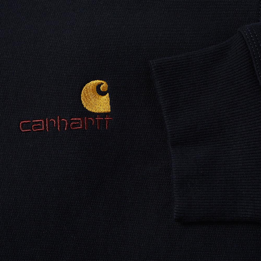 Carhartt WIP Half Zip American Script Sweat - Astro
