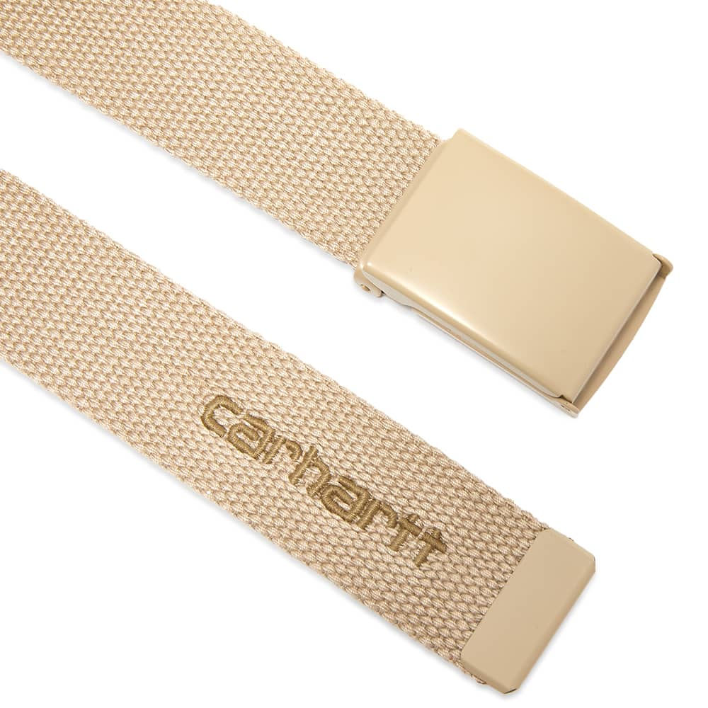 Carhartt WIP Tonal Script Belt - Wall & Leather