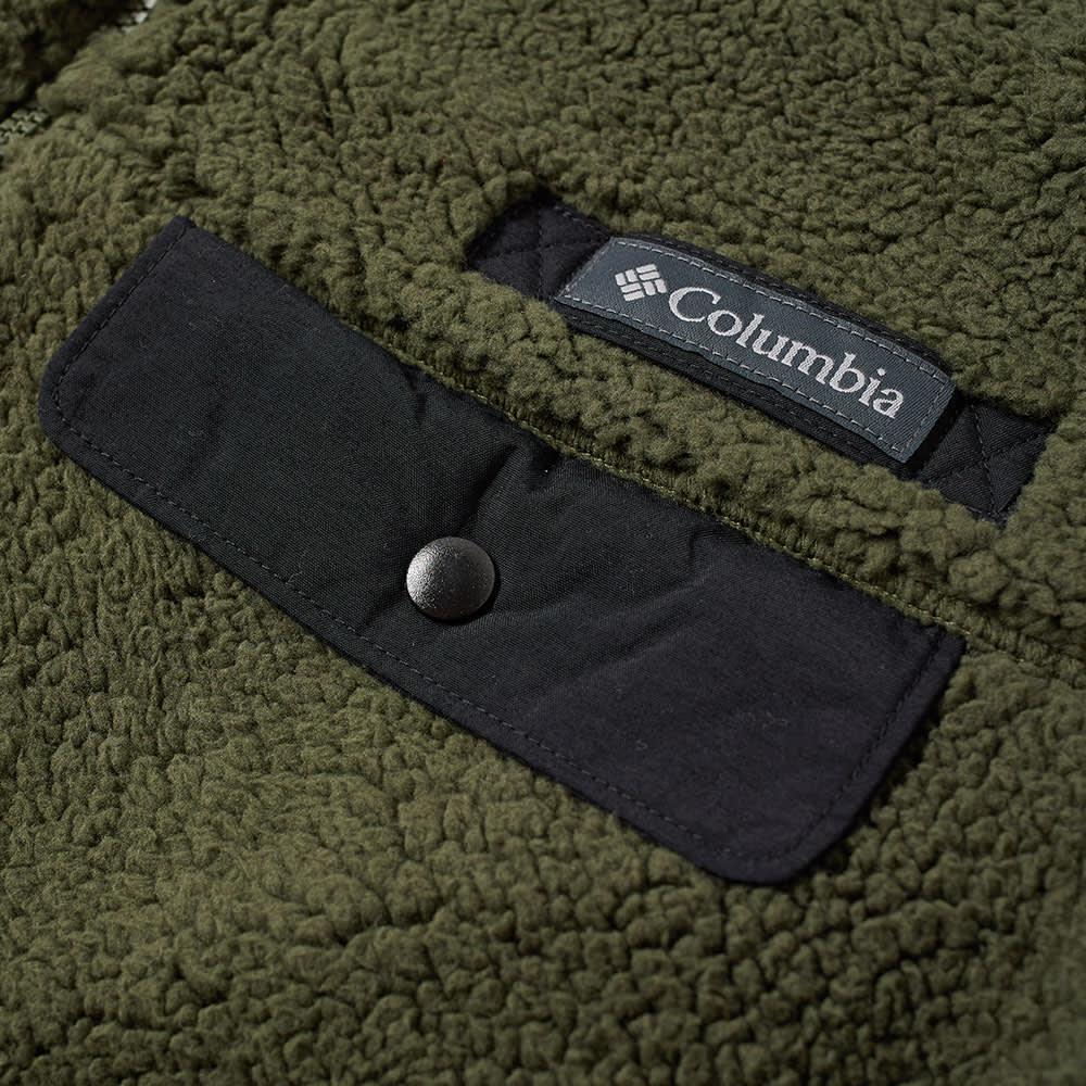 Columbia Mountain Side Heavyweight Fleece - Surplus Green & Black