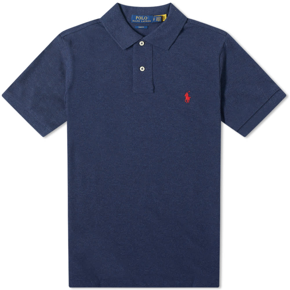 Polo Ralph Lauren Slim Fit Polo - Spring Navy Heather
