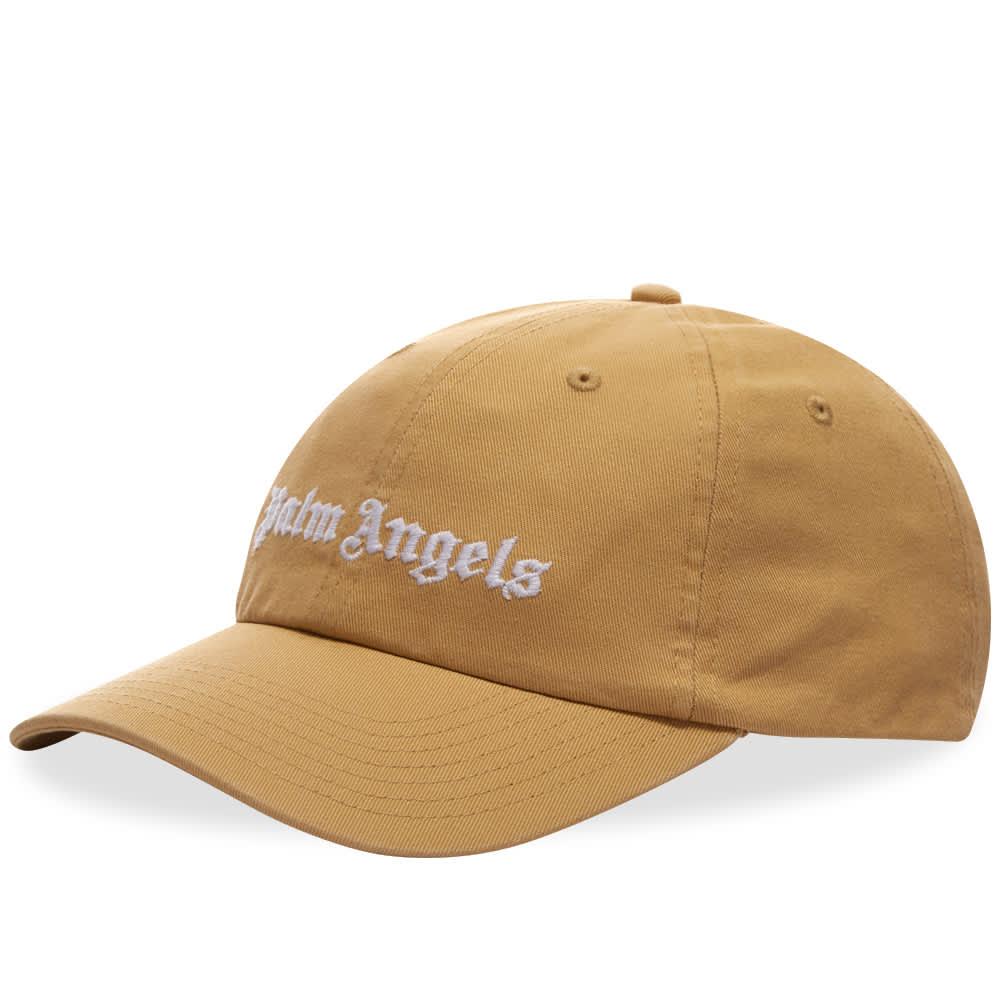 Palm Angels Classic Logo Cap - Beige & White