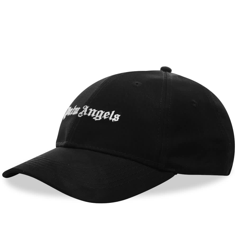Palm Angels Classic Logo Cap - Black & White