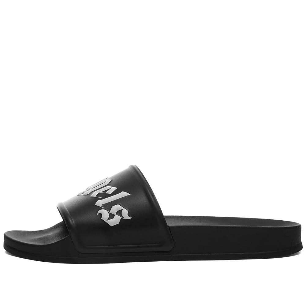 Palm Angels Logo Pool Slide - Black & White