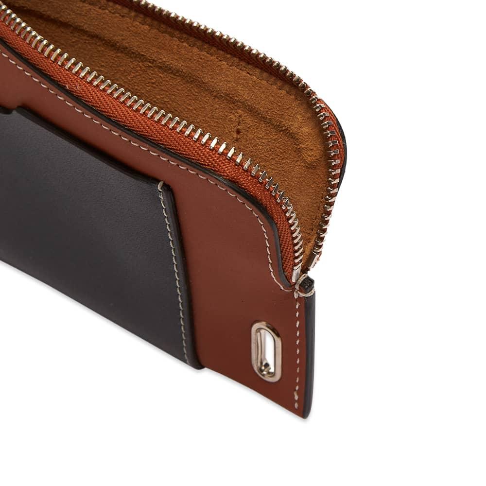 JW Anderson Zip Cardholder With Strap - Pecan & Black