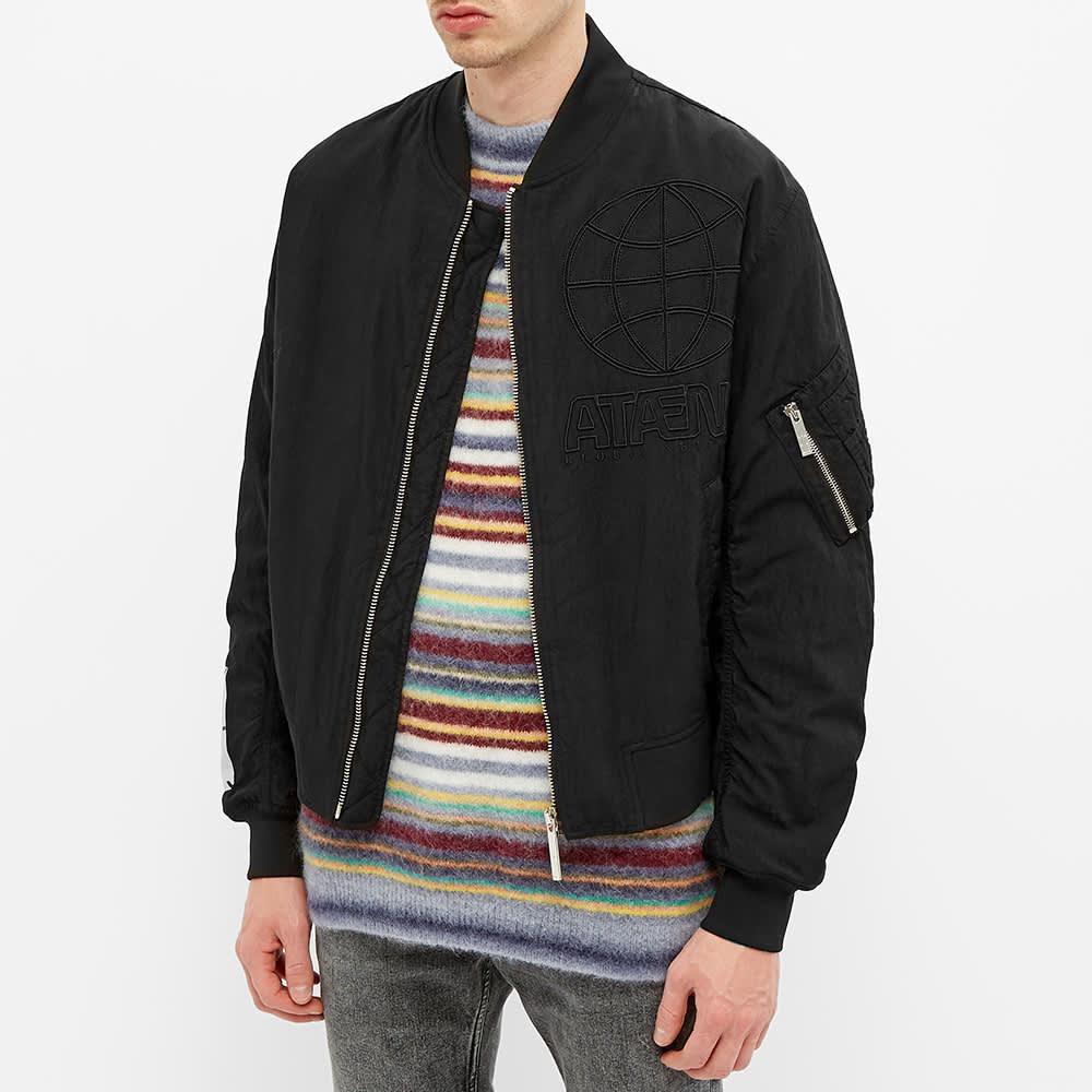 MCQ Back Print MA-1 Jacket - Darkest Black