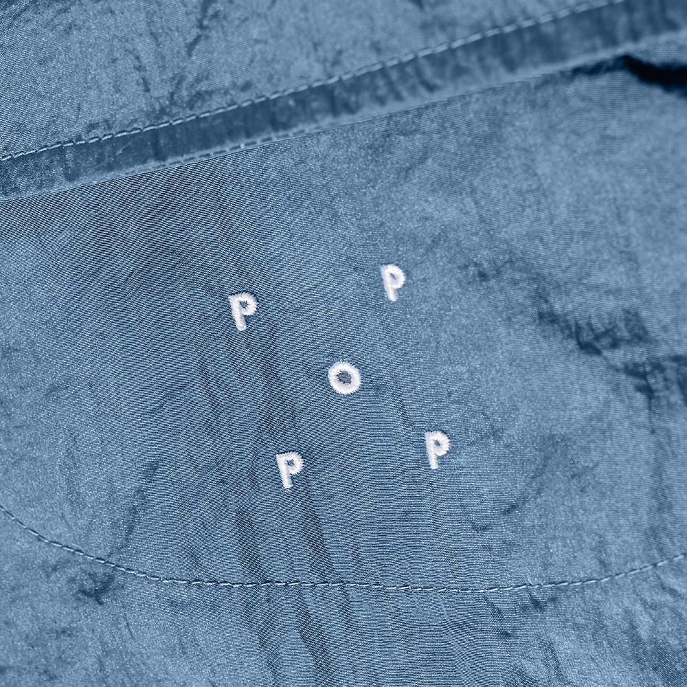 POP Trading Company Big Pocket Tech Zip Overshirt - Blue Shadow