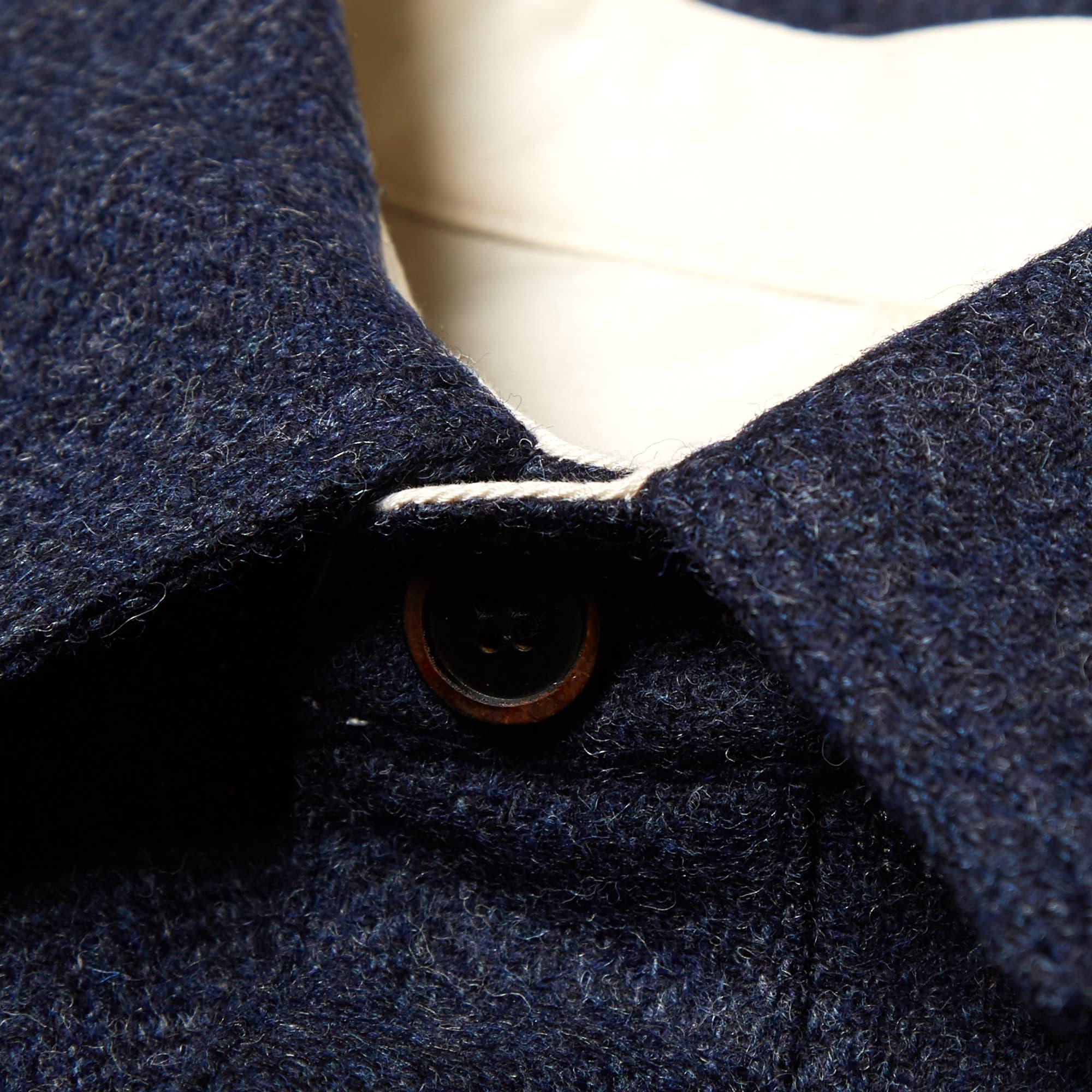 Freemans Sporting Club Camp Overshirt - Blue Herringbone