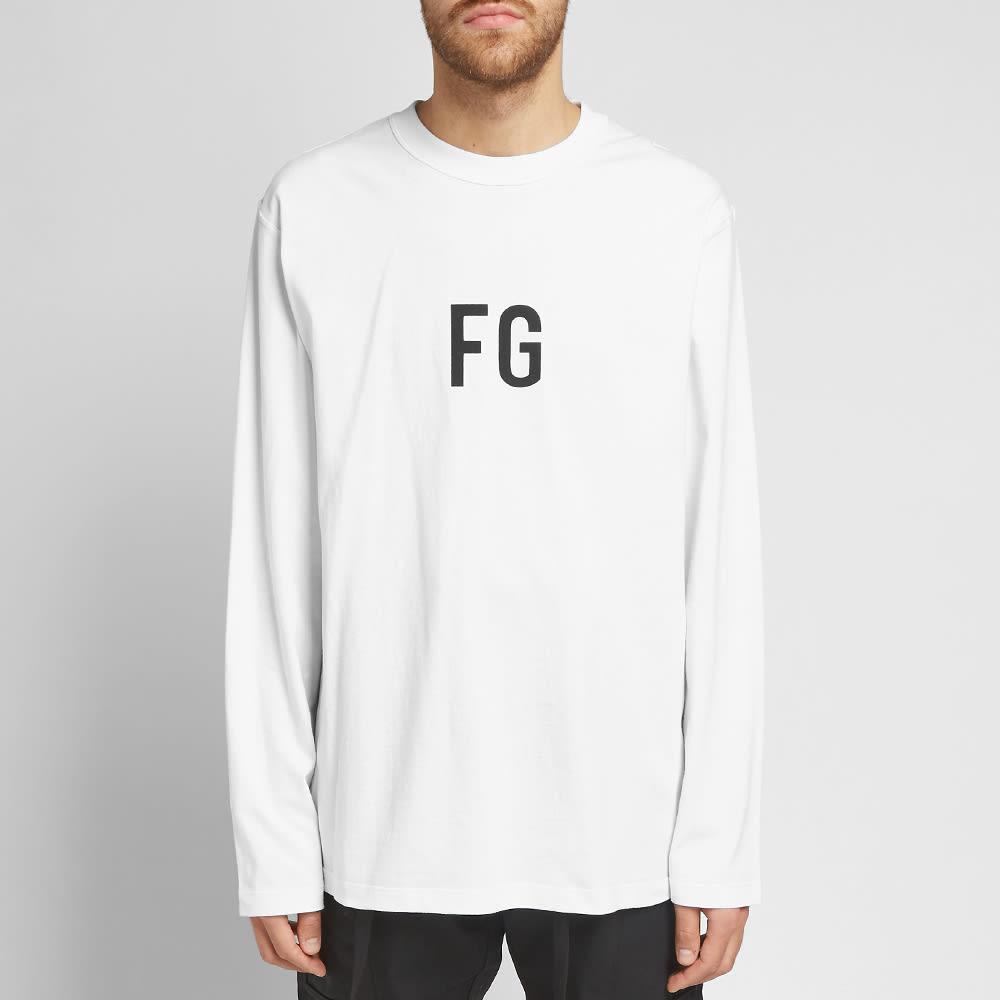 Fear Of God Long Sleeve FG Tee - White