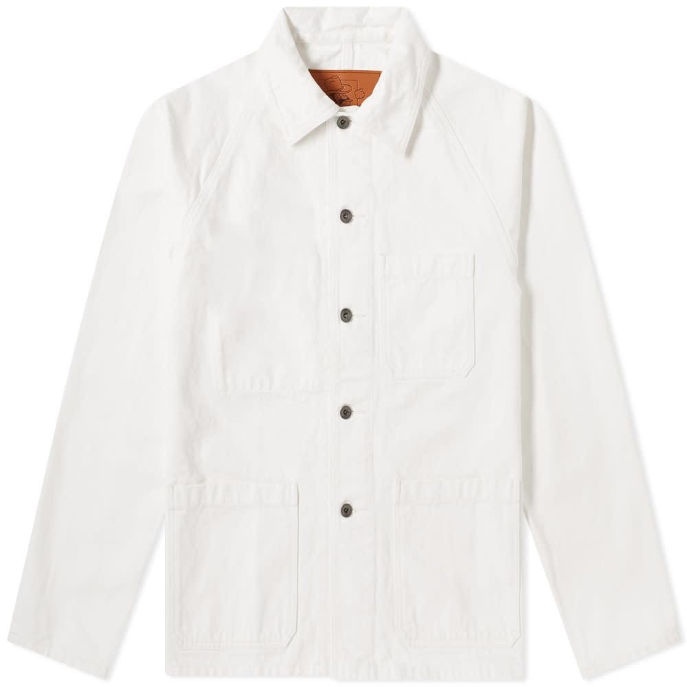 Arpenteur Raglan Denim Jacket - White