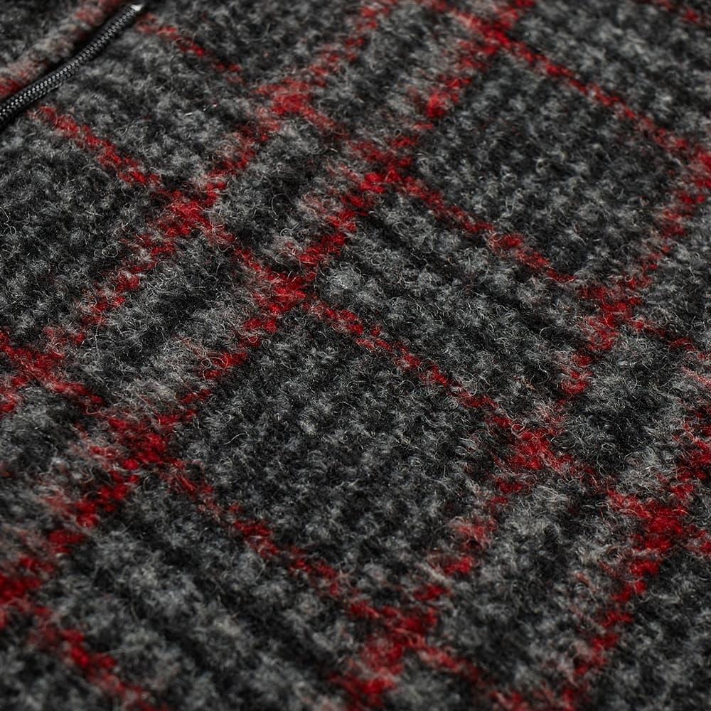 Needles Plaid Fleece Vest - Grey