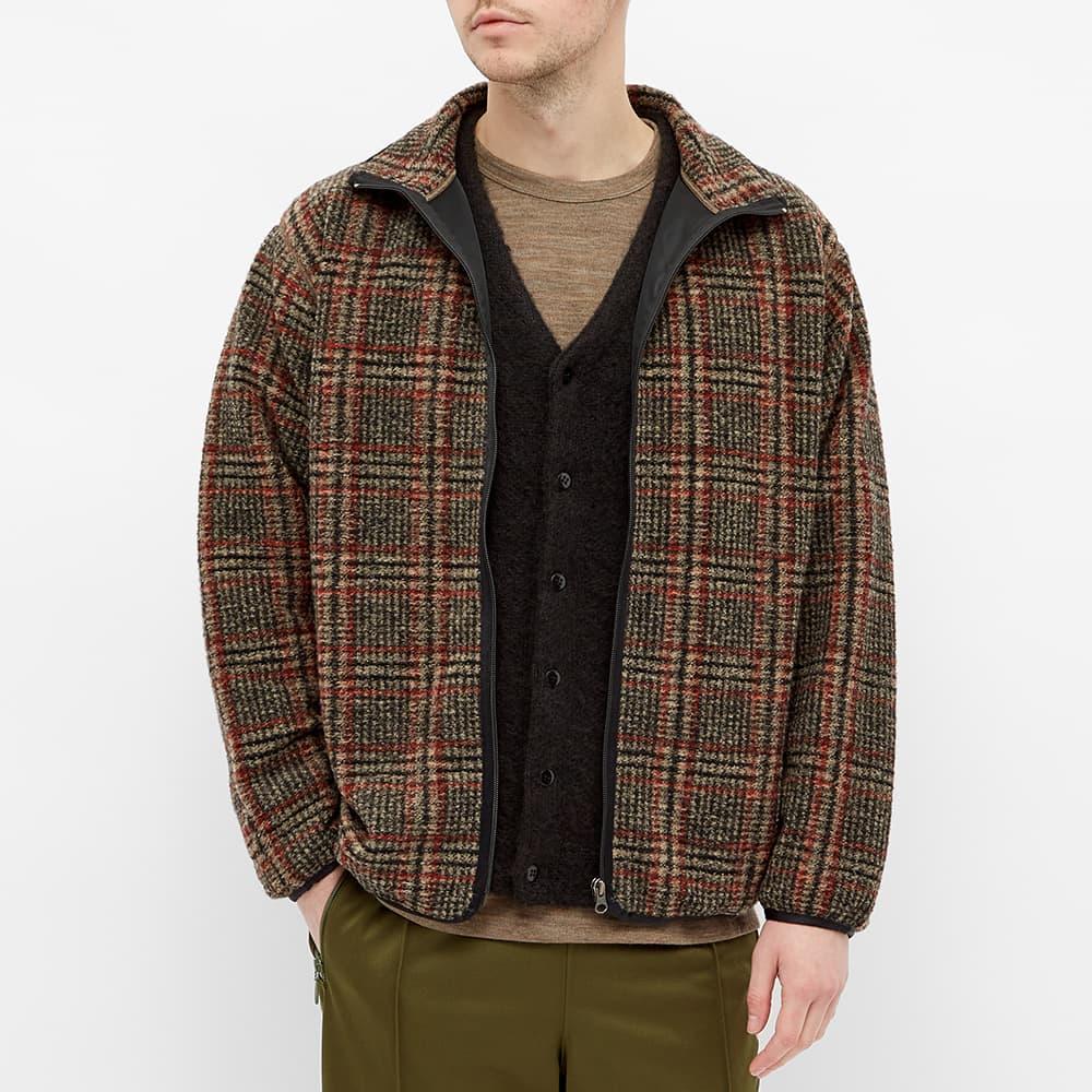 Needles Plaid Fleece Jacket - Beige