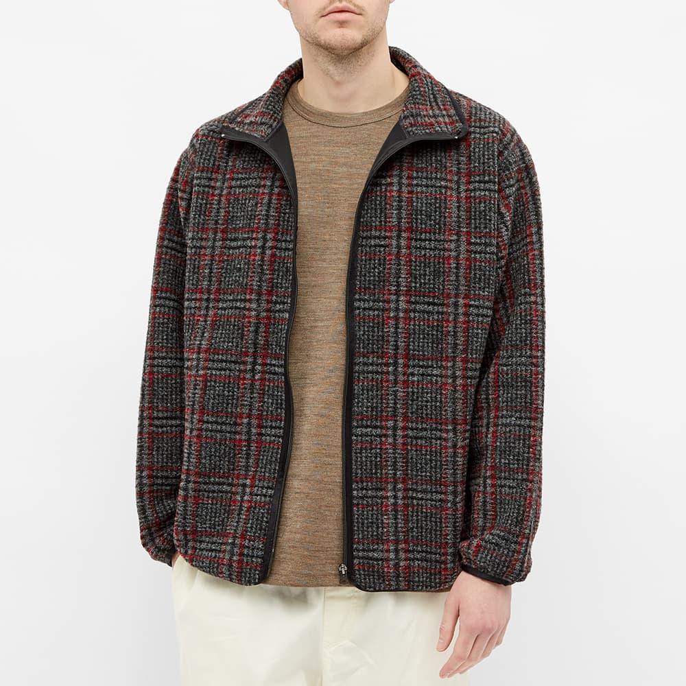 Needles Plaid Fleece Jacket - Grey
