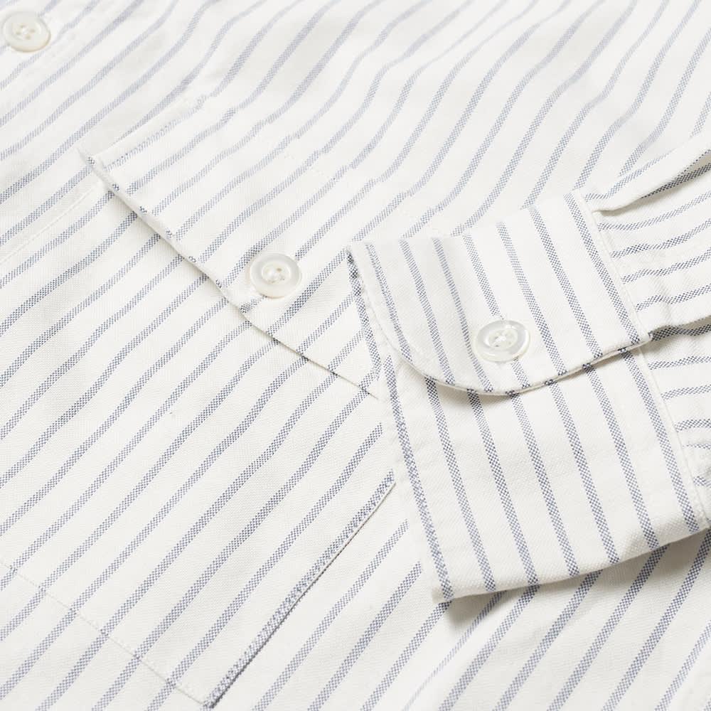 Arpenteur Doris Oxford Shirt - White & Blue Stripe