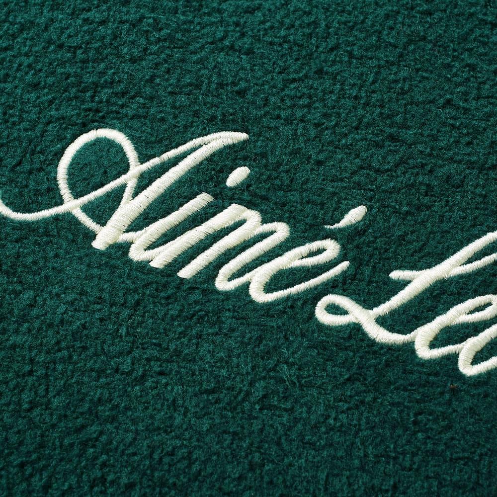 Aimé Leon Dore Reverse Fleece Ribbed Hoody  - Botanical Green