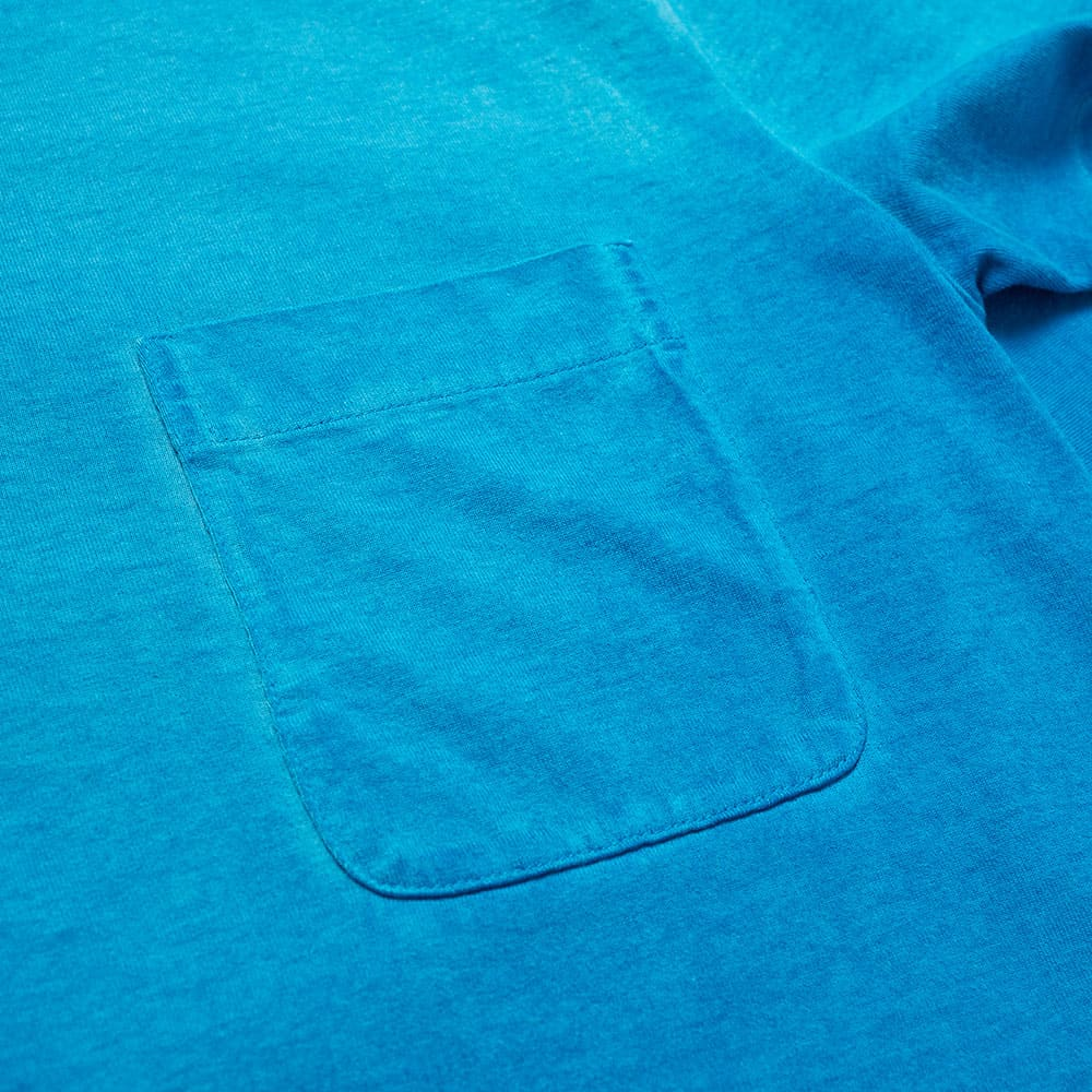 Lanvin Garment Dyed Pocket Tee - Blue Ocean