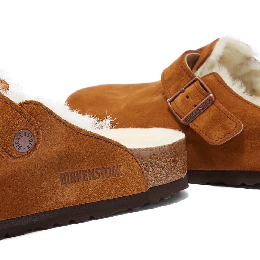 Birkenstock Boston Fur - Mink Suede