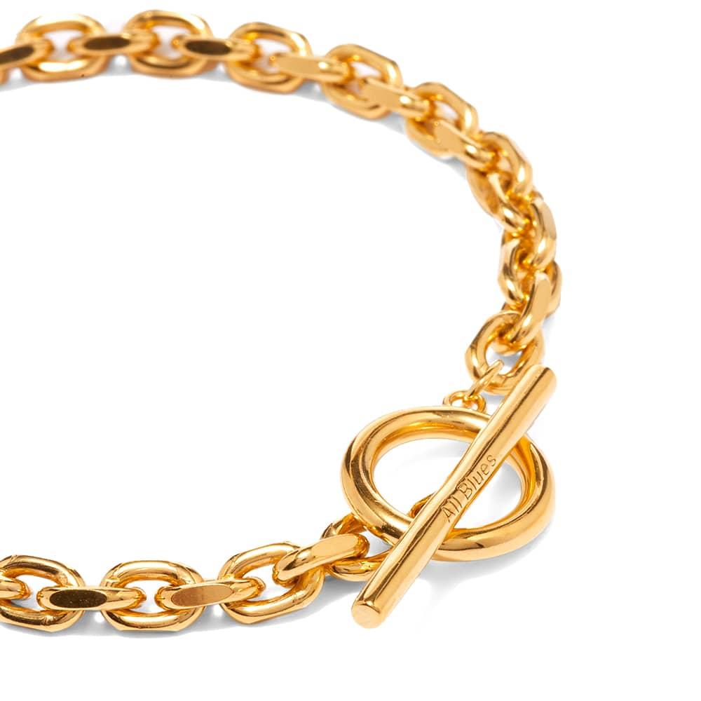 All Blues Anchor Bracelet - Gold