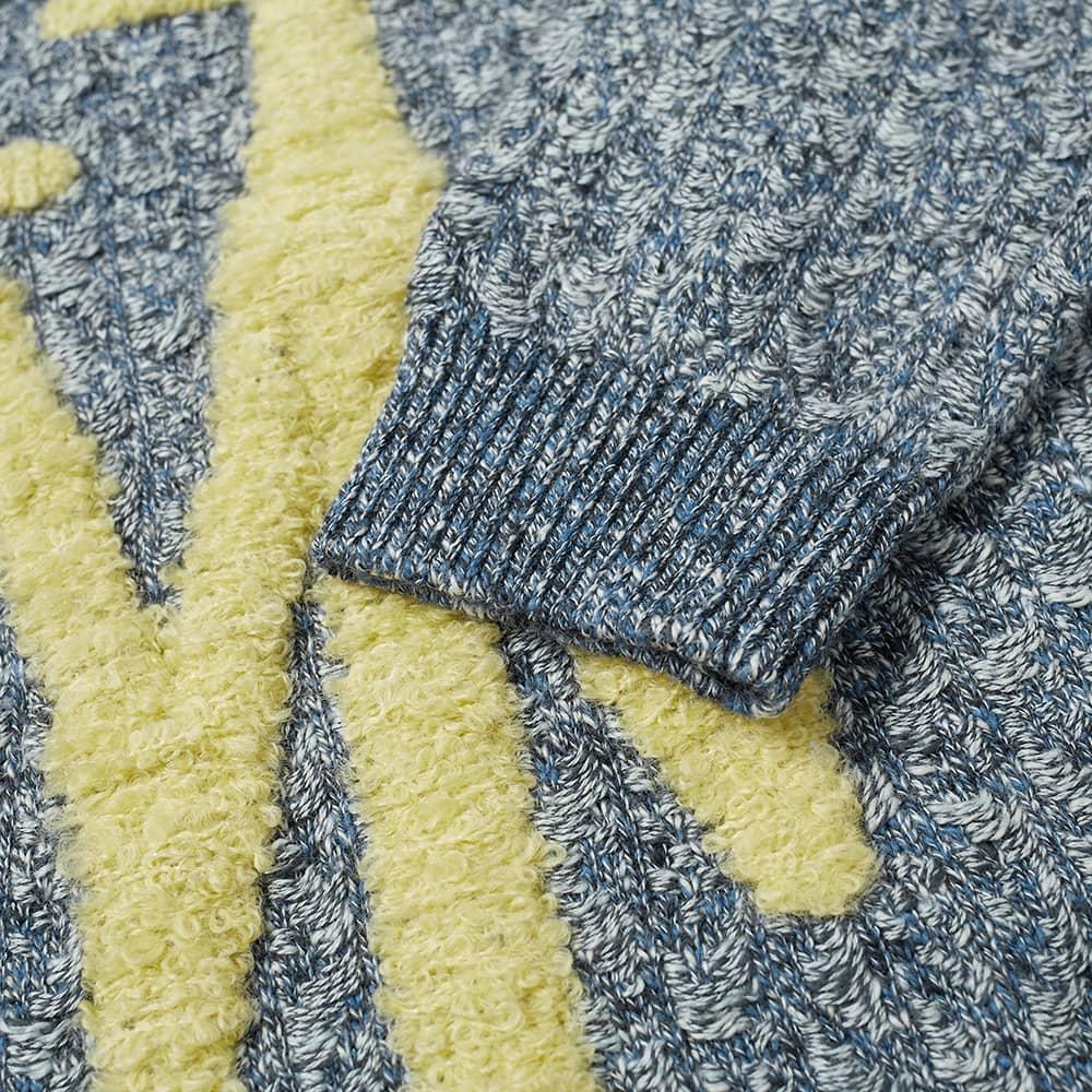 JW Anderson Textured Anchor Crew Knit - Cornflower Blue