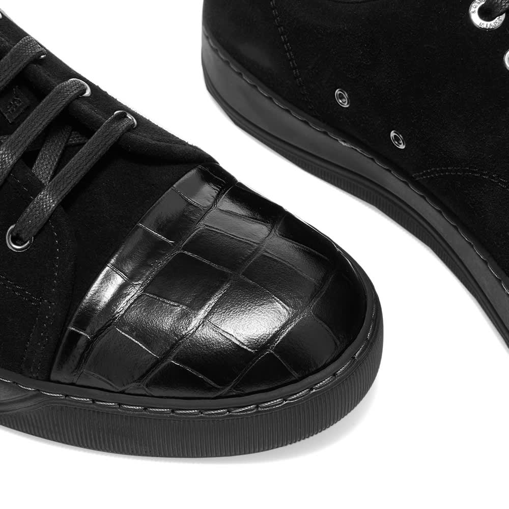 Lanvin Patent Toe Cap Low Sneaker - Black