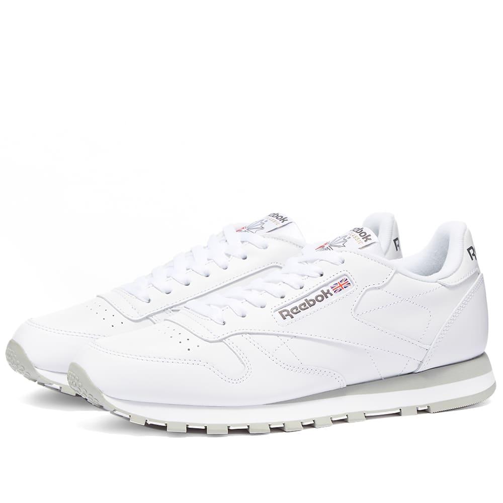 Reebok Classic Leather - White & Light Grey