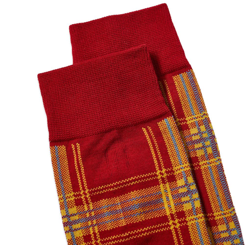 N/A Sock Plaid - Red