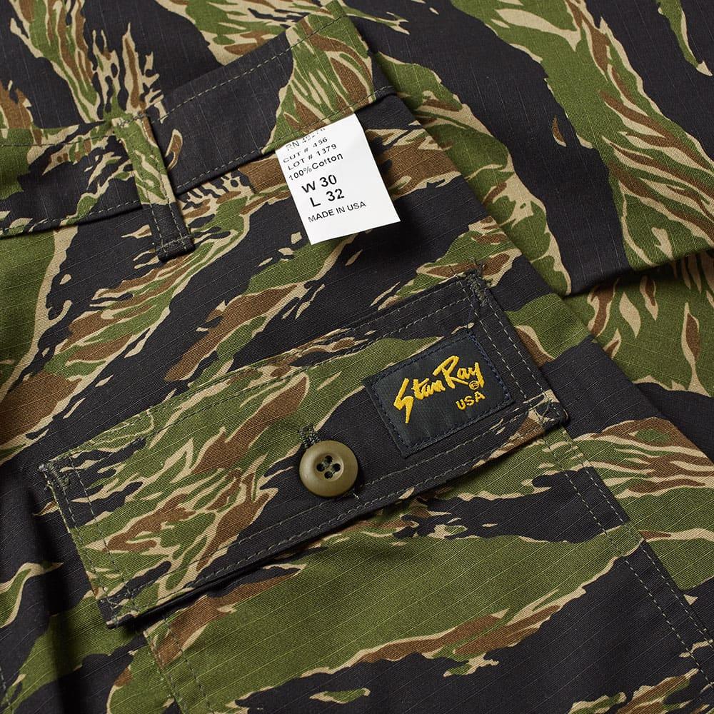 Stan Ray Slim Fit 4 Pocket Fatigue Pant - Green Tiger Stripe