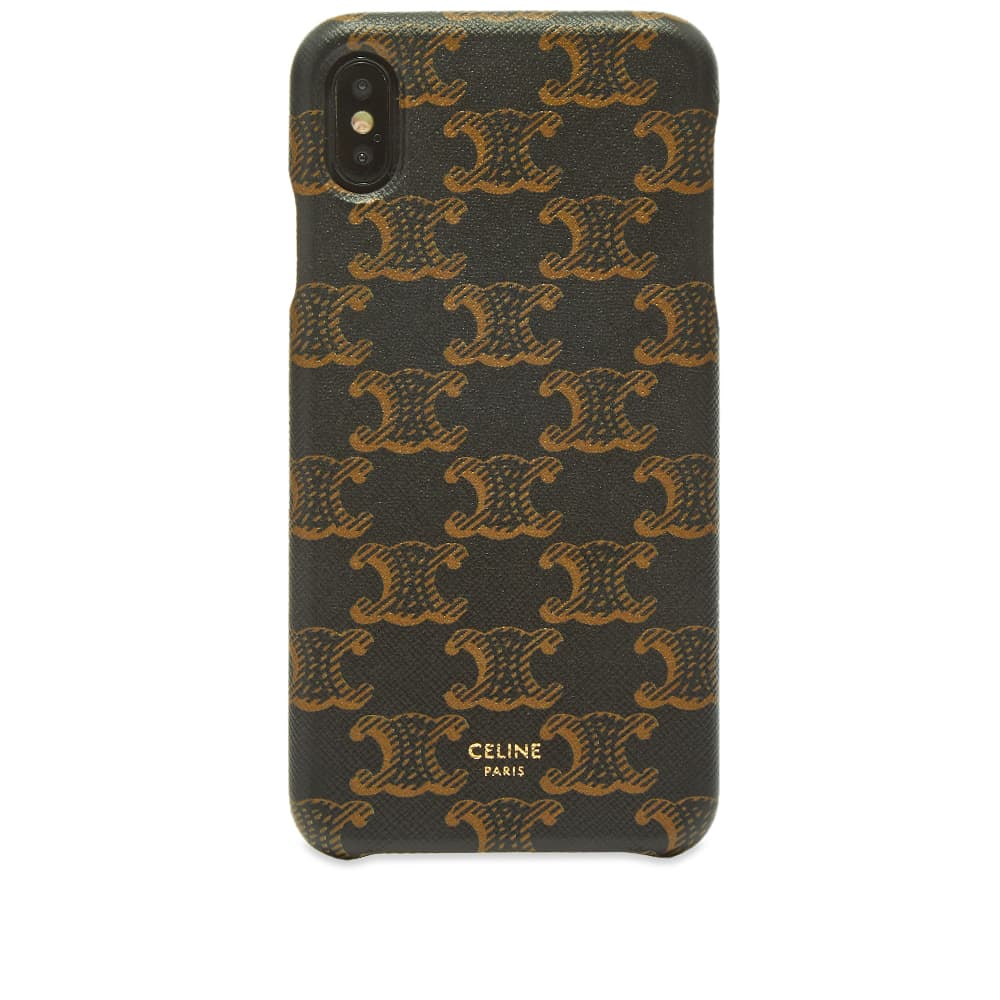 Celine iPhone XS Max Monogram Case - Black