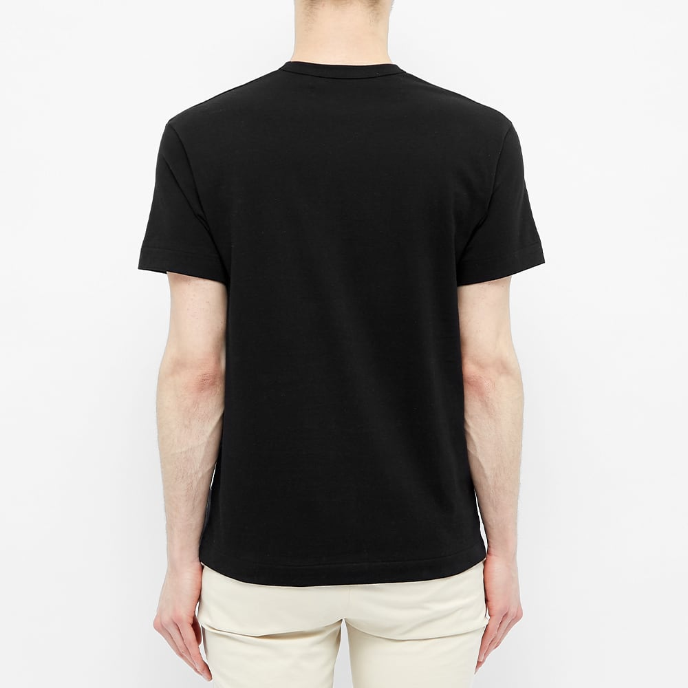 Comme des Garcons Play Gold Heart Logo Tee - Black