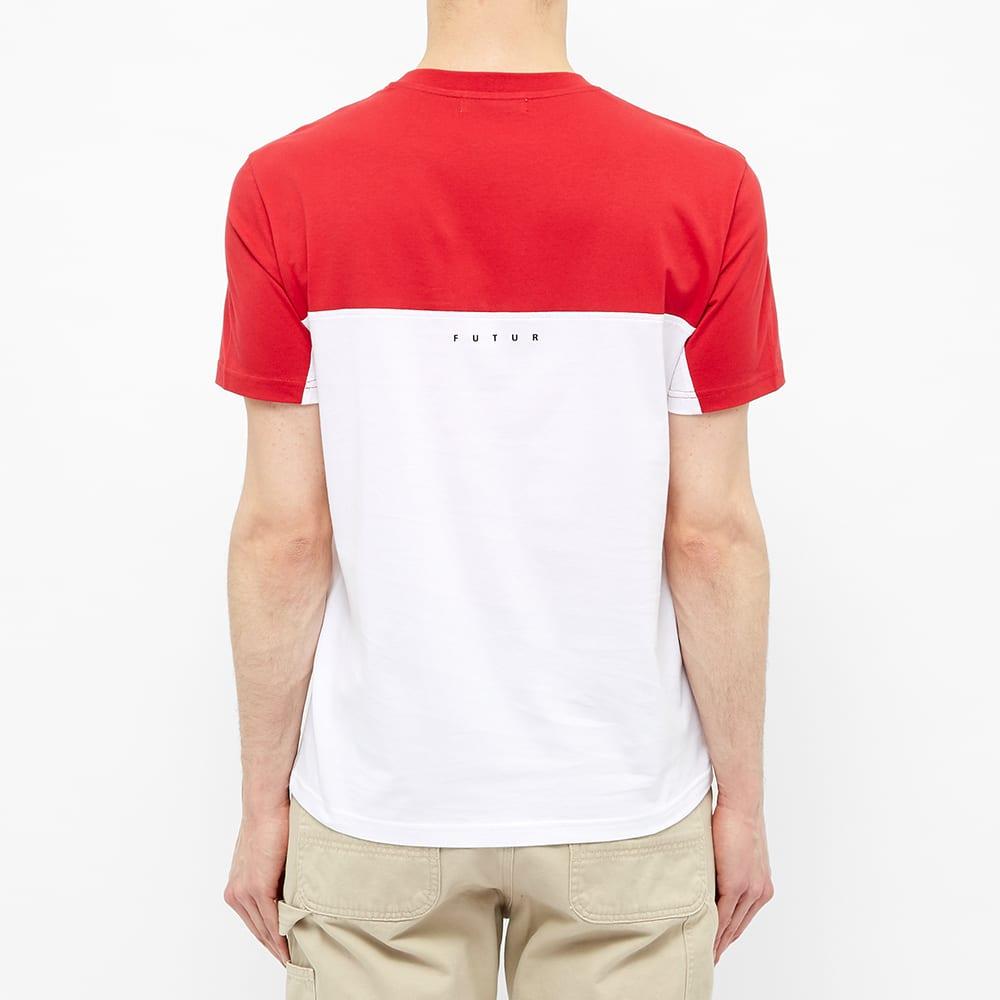 Futur Colour Block Logo Tee - Red