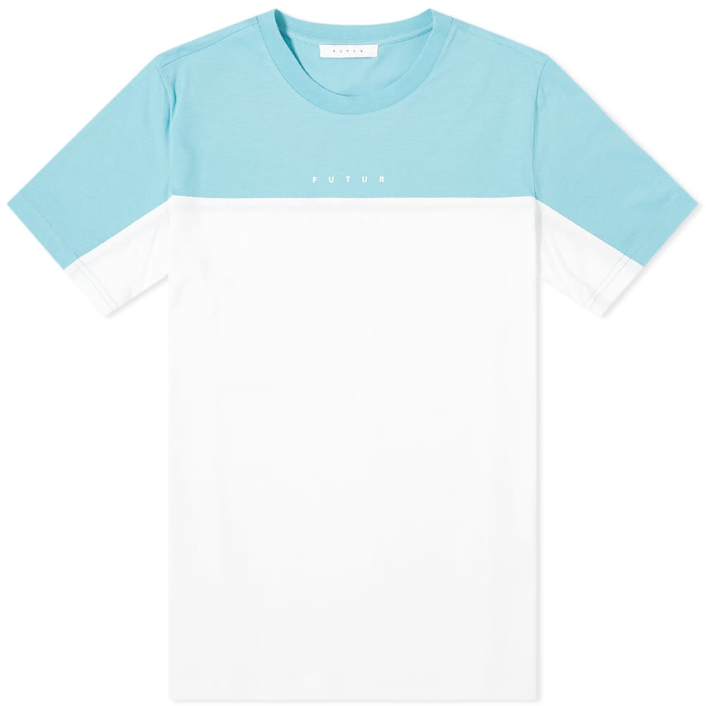 Futur Colour Block Logo Tee - Turquoise