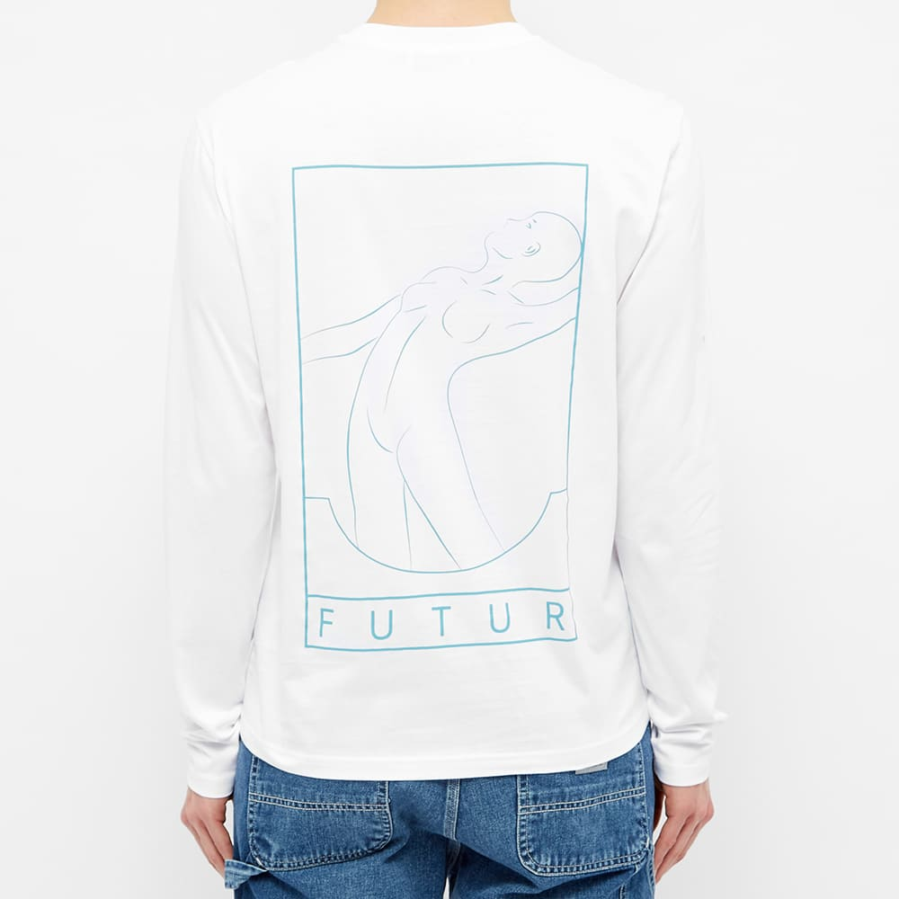 Futur Long Sleeve Logo Tee - White