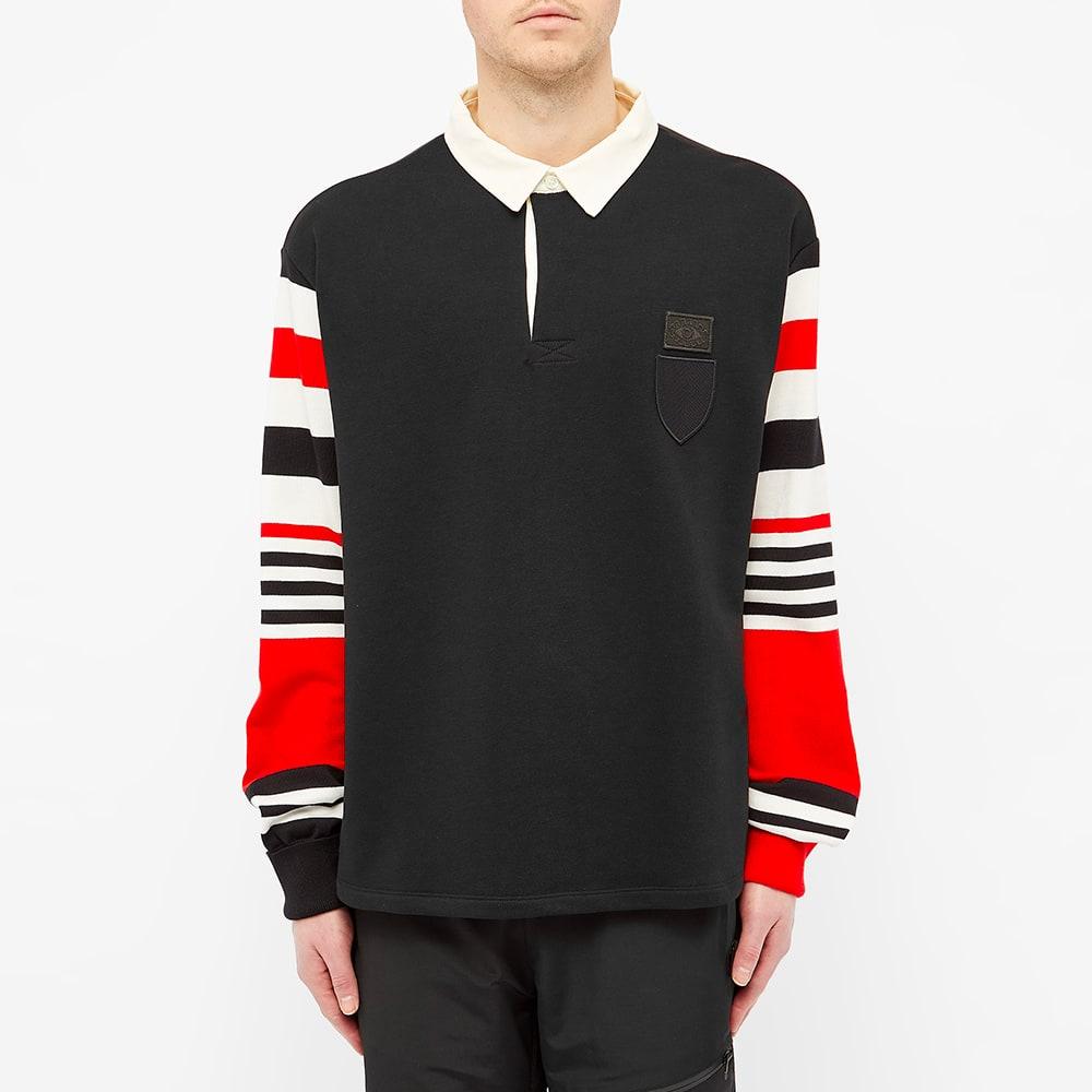Neil Barrett Collegic Rugby Shirt - Black & Red