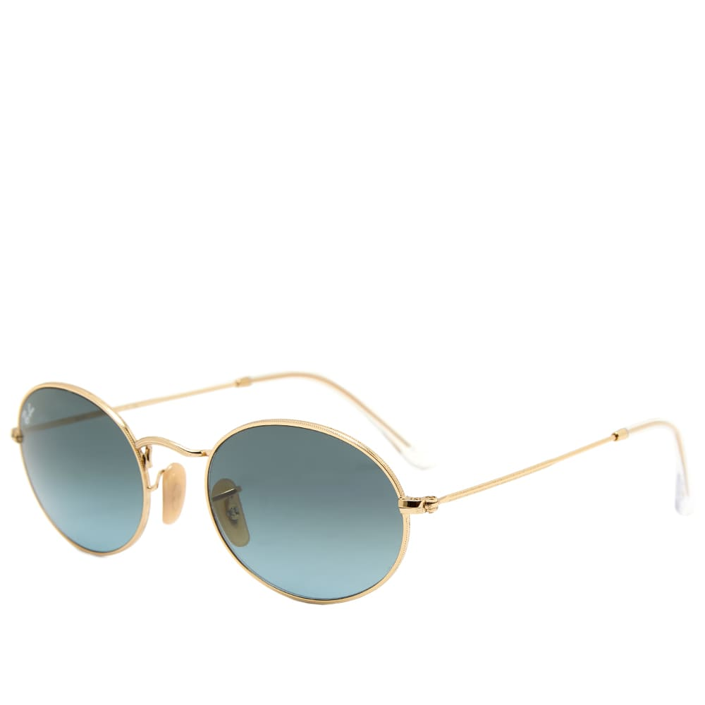 Ray Ban RB3547 Sunglasses - Gold & Blue Gradient Grey