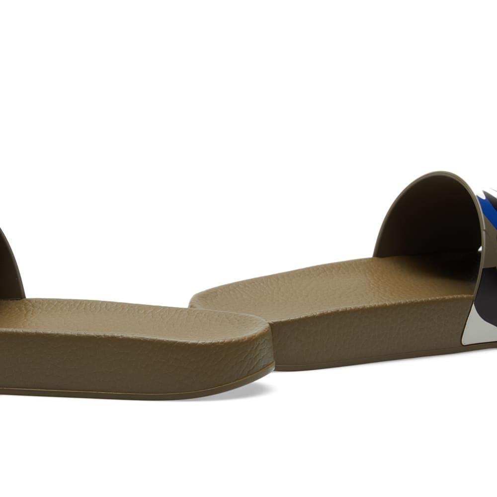 Valentino Camo Slide - Army Green, Ivory & Royal