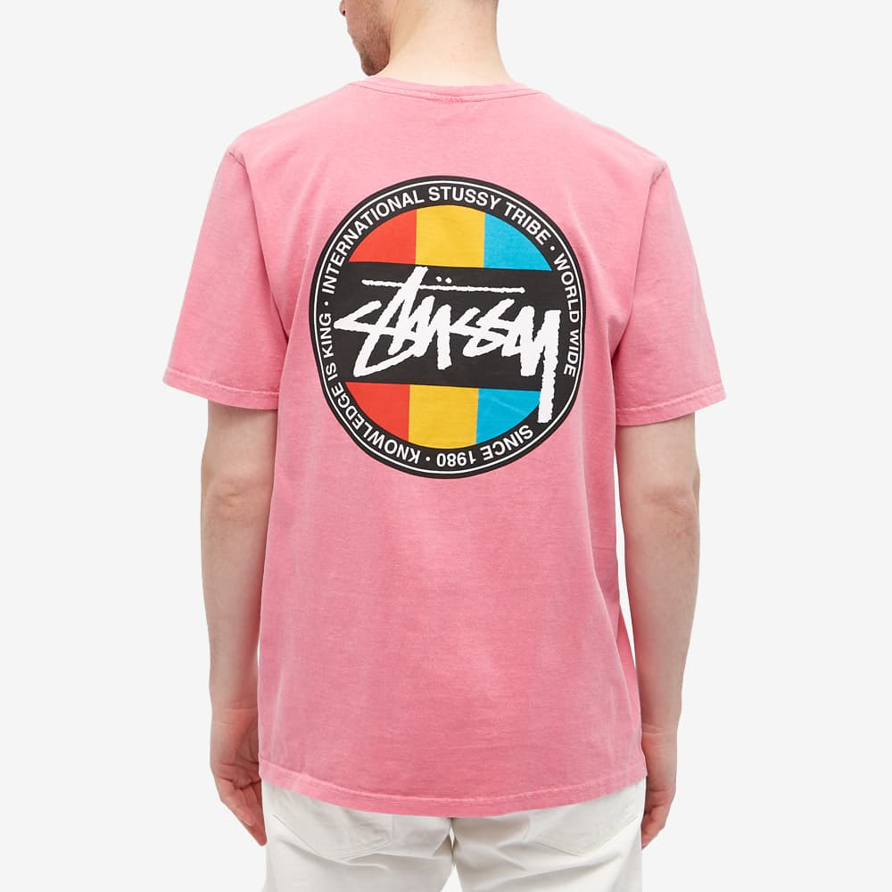 Stussy Classic Dot Pigment Dyed Tee - Pink