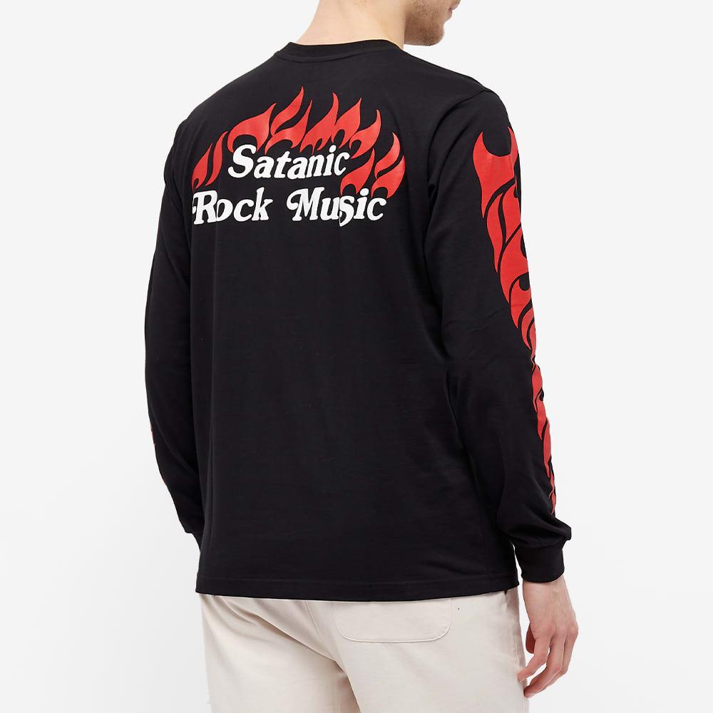 Assid Satanic Rock Music Ls Tee - Black