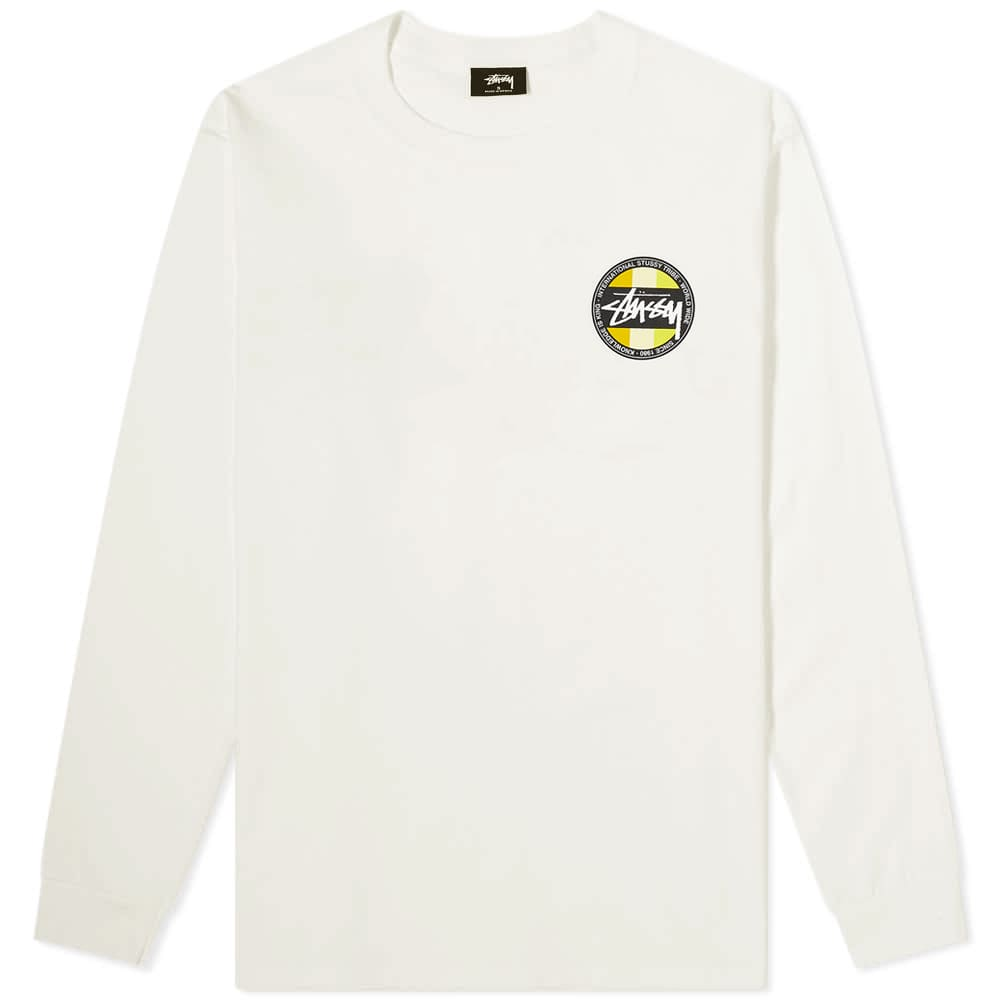 Stussy Long Sleeve Classic Dot Pigment Dyed Tee - Natural