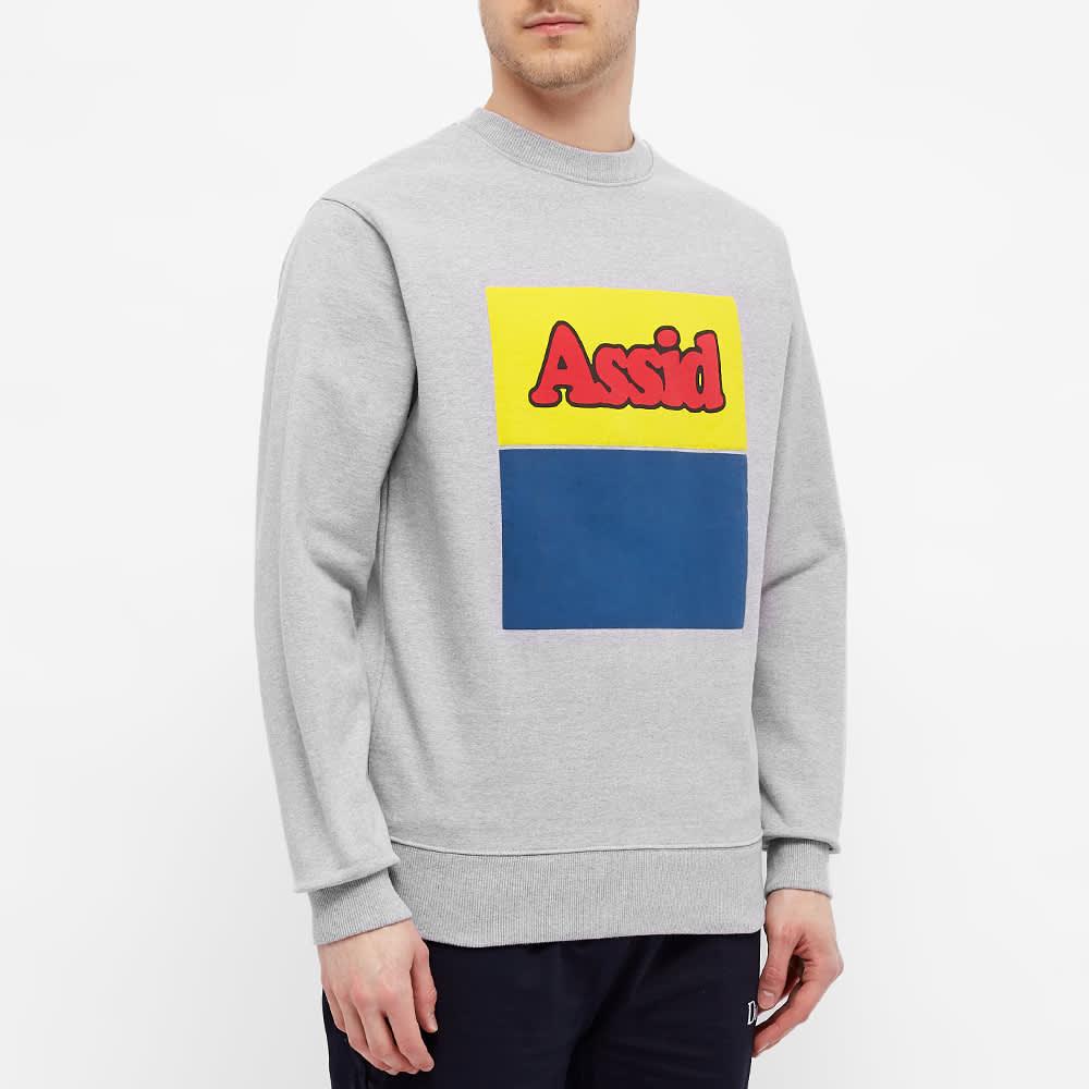 Assid Ed Crew Sweat - Grey Marl