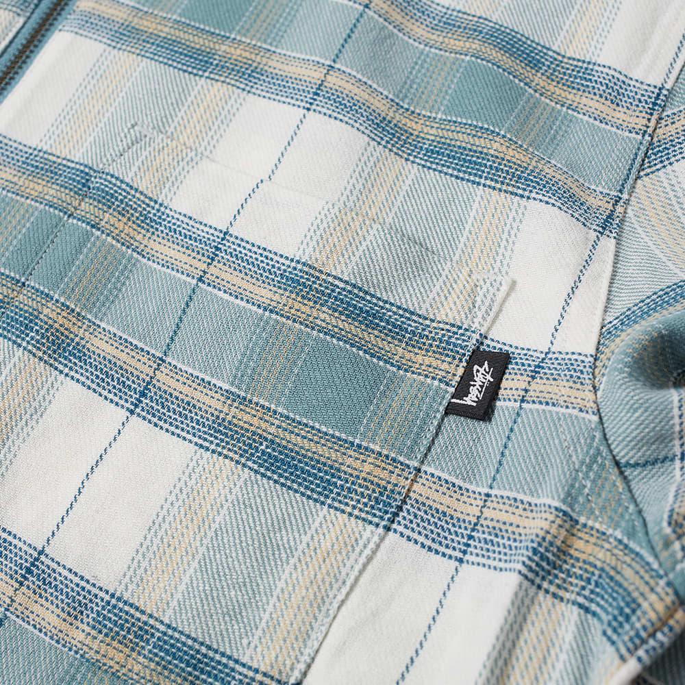 Stussy Heritage Plaid Zip Shirt - Green