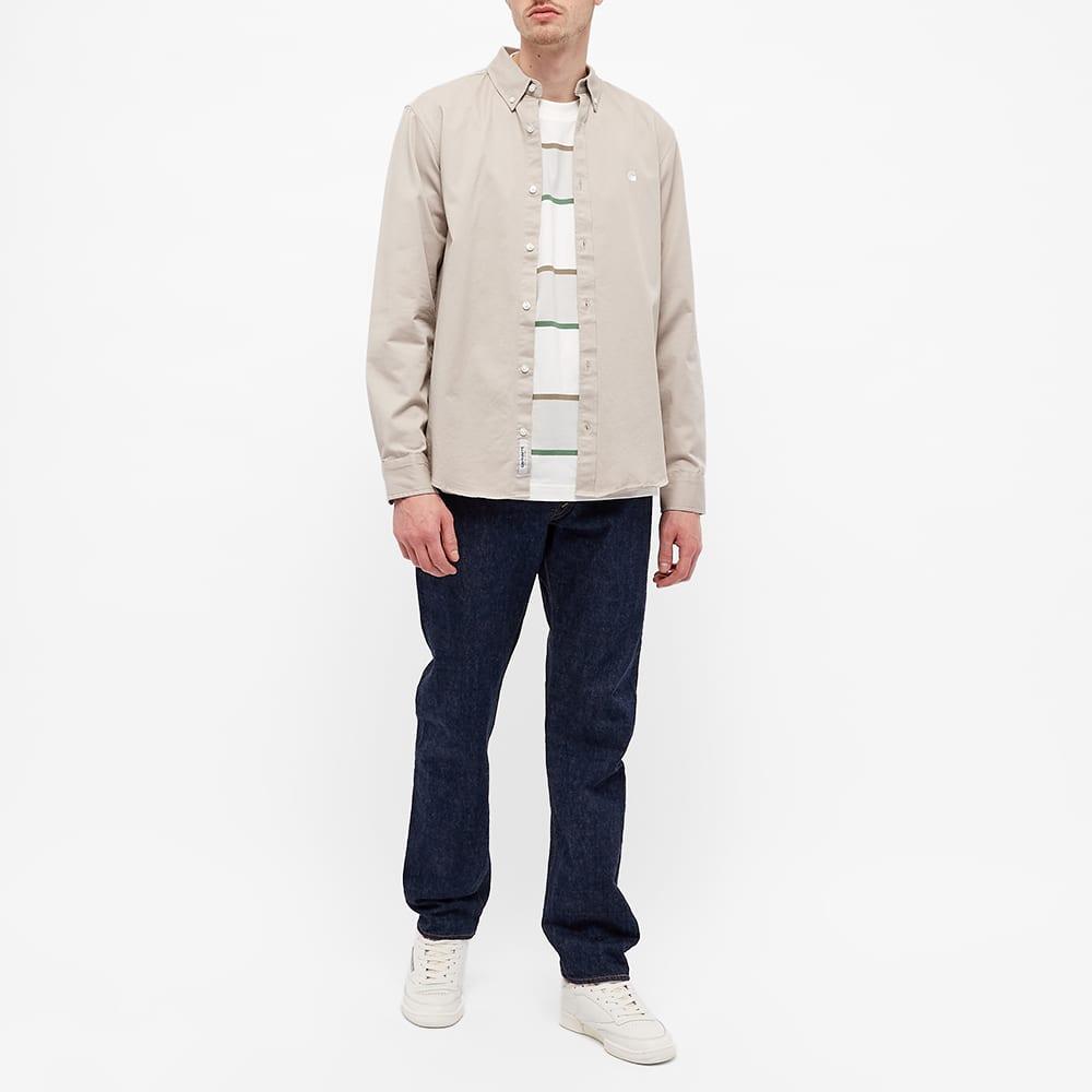 Stussy Long Sleeve Bold Stripe Tee - Bone