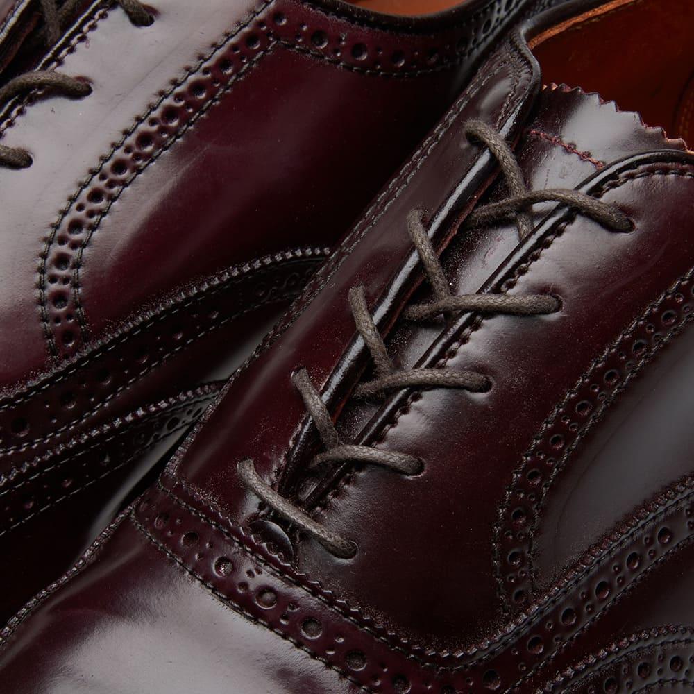 Alden Wing Tip Bal Oxford - Dark Burgundy Cordovan