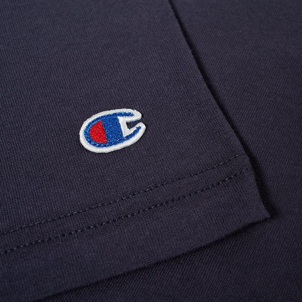 Champion Reverse Weave Small Script Logo Tee - Navy