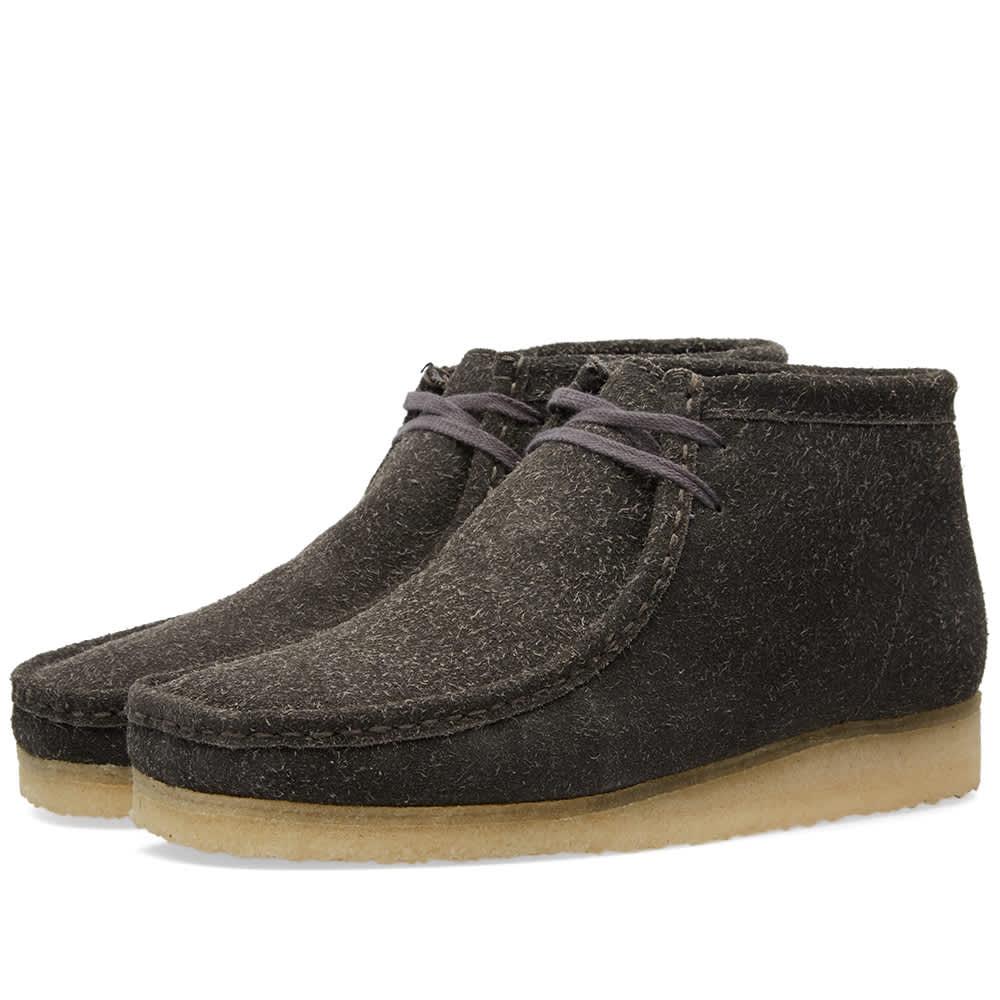 Clarks Originals Wallabee Boot - Grey Lined Suede