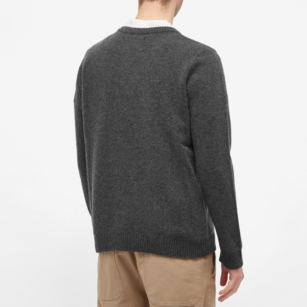 Organic Basics Recycled Wool Crew Knit - Charcoal Melange