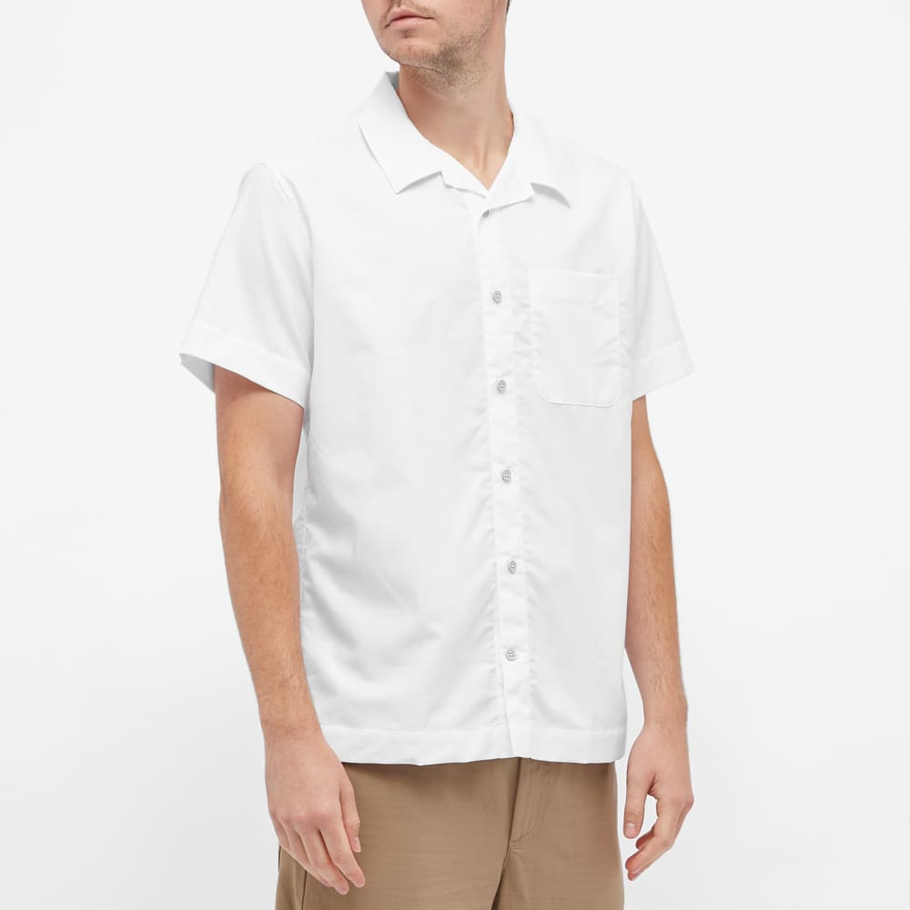 Organic Basics Short Sleeve Organic Cotton Shirt - White