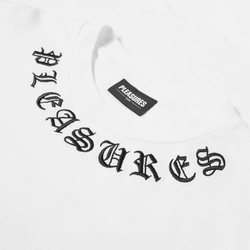 Pleasures Memento Logo Collar Tee - White