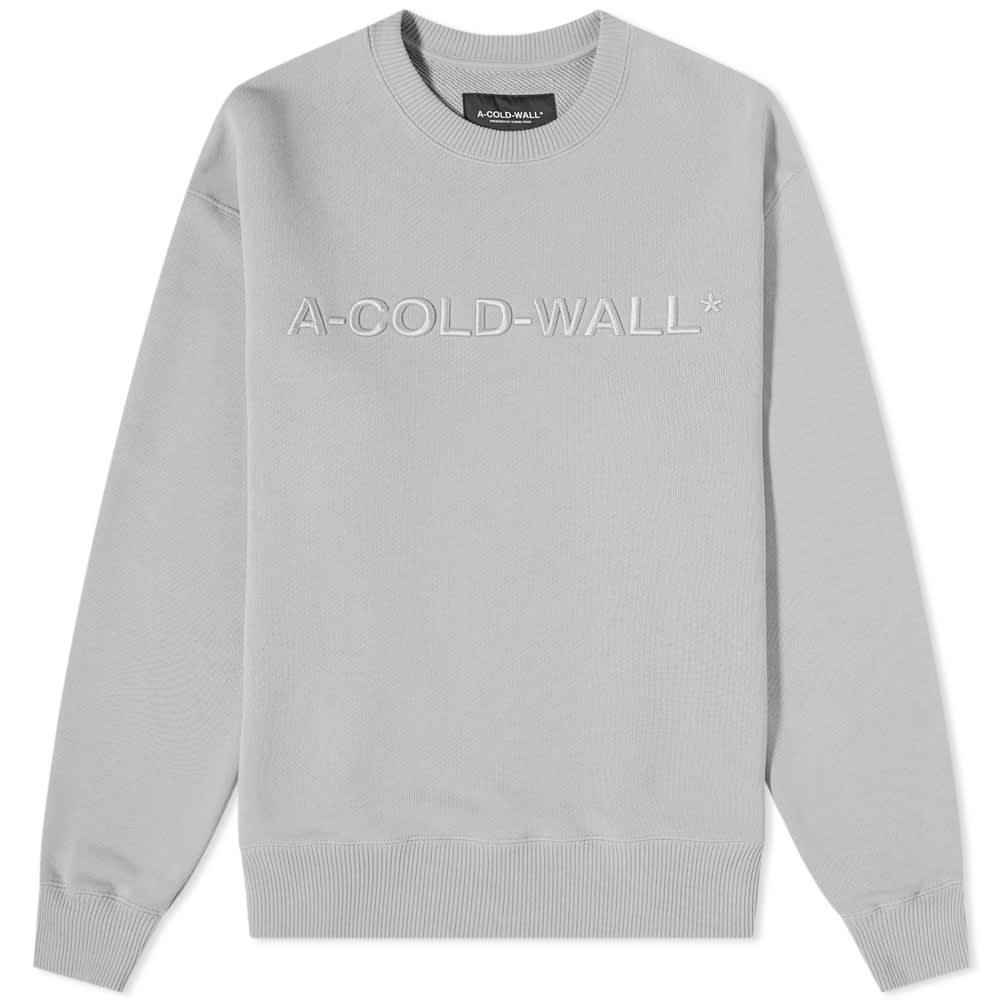 A-COLD-WALL* Logo Crew Sweat - Grey