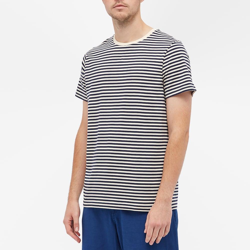 Organic Basics Stripe Tee - Navy