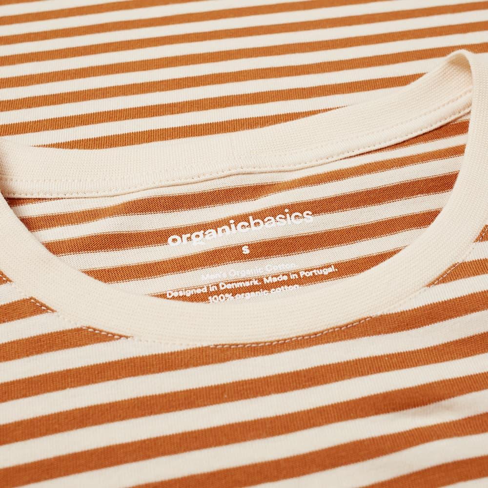 Organic Basics Stripe Tee - Ochre